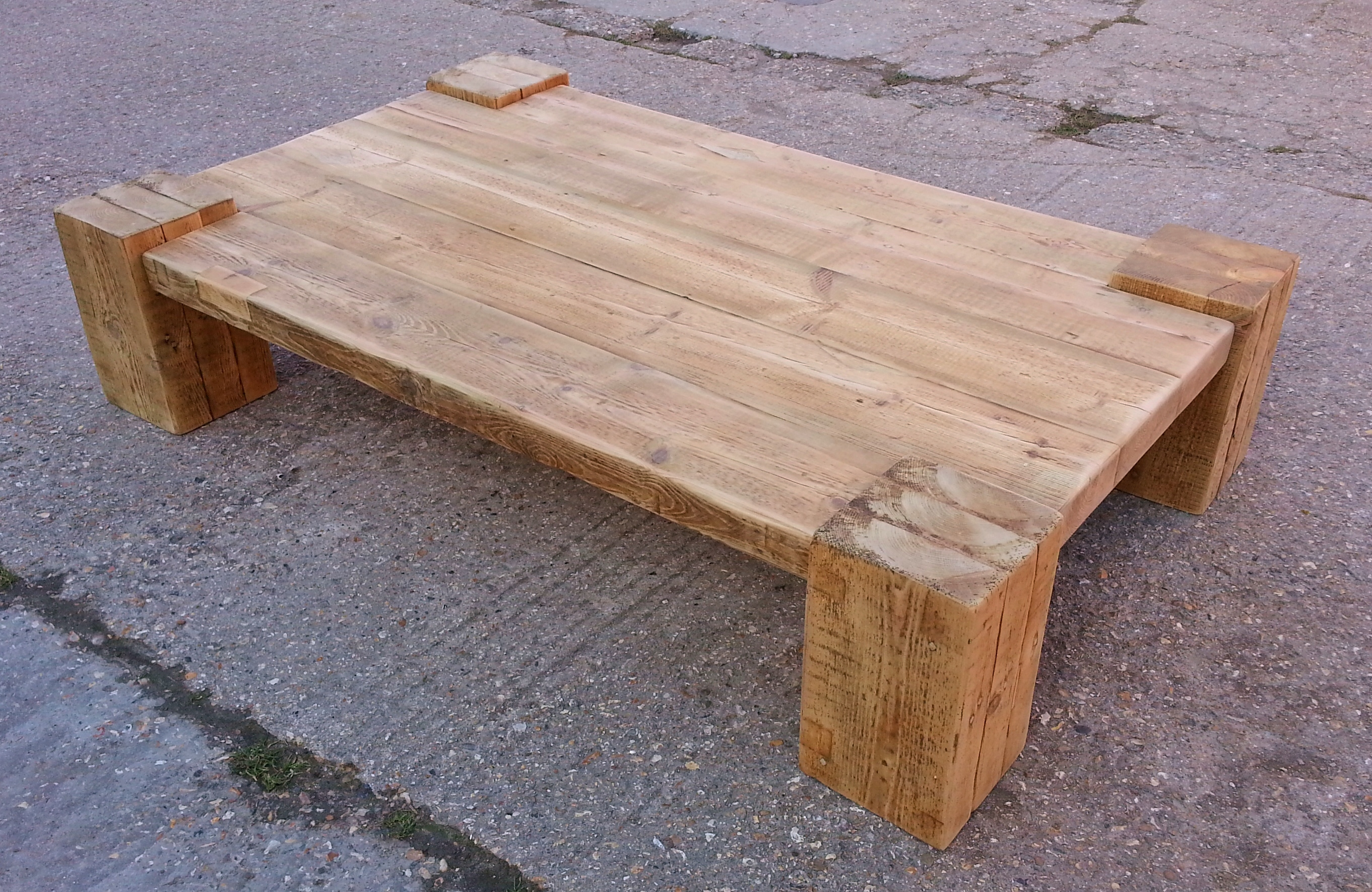 Diy rustic wood coffee table - Coffee Tables Reclaimed Timber Amp Character Oak